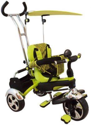 Baby Mix Maxi Trike Green prémium tricikli tolókarral, sárvédővel és lábtartóval