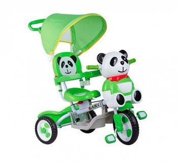 Baby Mix Trike Panda tricikli tolókarral és lábtartóval