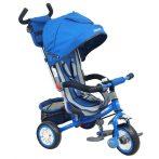 Baby Mix Prémium tricikli kék színben tolókarral és lábtartóval