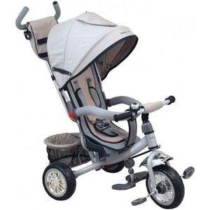Baby Mix Prémium tricikli szürke színben tolókarral és lábtartóval