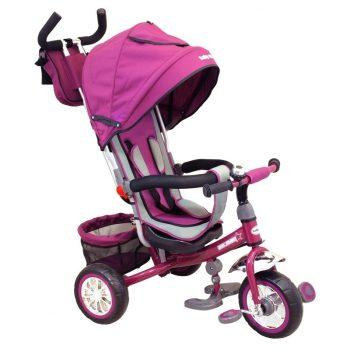 Baby Mix Prémium tricikli lila színben tolókarral és lábtartóval