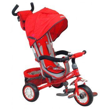 Baby Mix Prémium tricikli piros színben tolókarral és lábtartóval