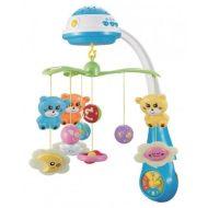 Baby Mix kék cicás zenélő-forgó játék és kivetítő kiságyra
