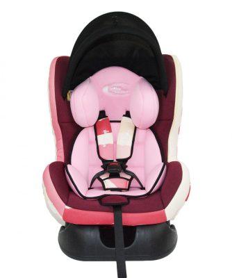 MamaKiddies Baby autósülés (0-18 kg) pink színben ajándék napvédővel