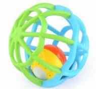 Gömb alakú kék és zöld fejlesztő játék