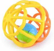Gömb alakú sárga és narancssárga fejlesztő játék