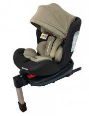 ISOFIX-es 360°-ban forgatható Mama Kiddies Baby Pilot biztonsági autósülés (0-36 kg) barna-bézs színben ajándék napvédővel