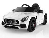 Mercedes-Benz AMG GT elektromos sportautó távirányítóval fehér színben
