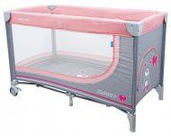 Baby Mix pink maci mintás fix utazóágy