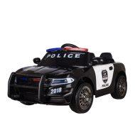 Elektromos rendőrautó távirányítóval fekete színben