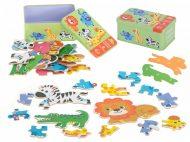 Készségfejlesztő puzzle safari 25 db - os