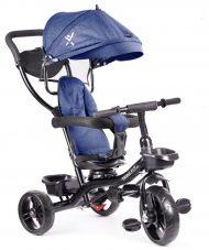 Fix Lite 3in1 tricikli szülőkormánnyal és lábtartóval kék színben (360°-ban forgatható ülés)