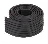 Habszalag élvédő 8x0,5x200 cm fekete