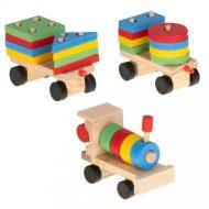 Fa készségfejlesztő vonat 30 cm