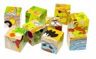9 részes fa készségfejlesztő játék szafari