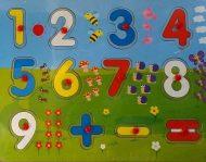 Fa készségfejlesztő puzzle számos