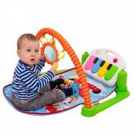 Készségfejlesztő játszószőnyeg állatkás, zongorával