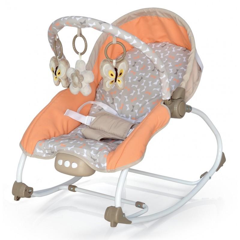 Baby Mix hordozható rezgő és zenélő pihenőszék narancs színben ... f5b80de8ad