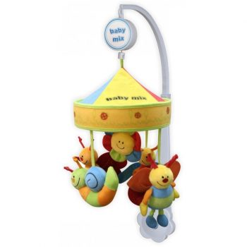 Baby Mix zenélő-forgó játék plüss mesefigurákkal kiságyra