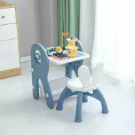 Mama Kiddies Funny többfunkciós játékasztal kék színben ajándék játékkészlettel és filctollakkal