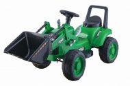 Zöld elektromos traktor