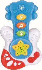 Baby Mix zenélő gitár kék színben