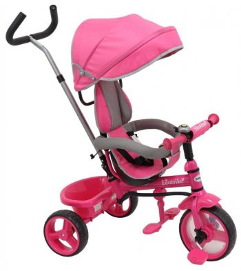 Baby Mix Ecotrike 2 gyermek tricikli pink színben