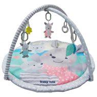 Baby Mix kör alakú játszószőnyeg egerekkel szürke színben