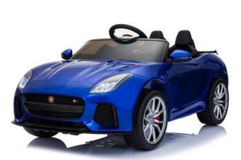 Jaguár limited edition kétüléses távirányítós elektromos autó kék színben