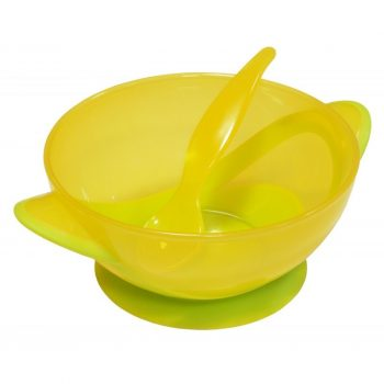 Baby Mix etetőtál - sárga - zöld