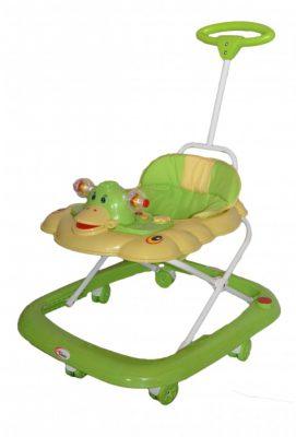 Mama Kiddies zöld kacsás bébikomp tolókarral