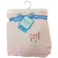 Baby Mix Cute puha babatakaró pink színben 80x104 - minőségi termék