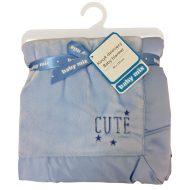Baby Mix Cute puha babatakaró kék színben 80x104 - minőségi termék