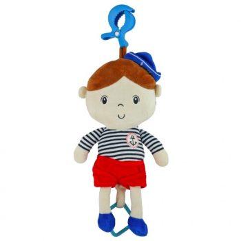 Tengerész fiús babahordozóra vagy babakocsira szerelhető plüssjáték