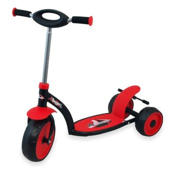 Háromkerekű roller piros színben