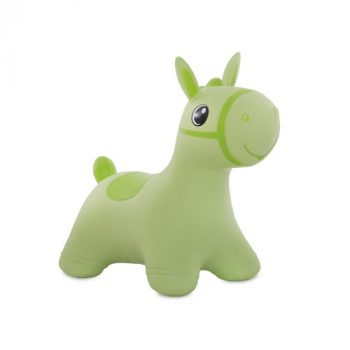 Felfújható lovacska zöld színben pumpával
