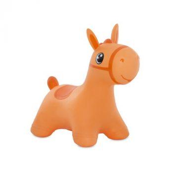 Felfújható lovacska narancssárga színben pumpával