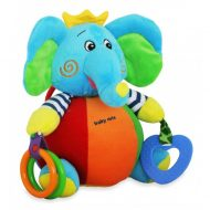 Elefántos Baby Mix plüssjáték rágókával és tükörrel