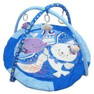 Baby Mix kör alakú vidám tengeri mintás játszószőnyeg