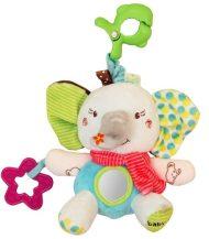 Baby Mix elefántos babahordozóra vagy babakocsira szerelhető plüssjáték rágókával
