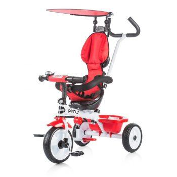 Chipolino Primus tricikli kupolával piros színben