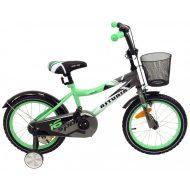 """Baby Mix zöld bicikli (12"""") ajándék kosárral"""