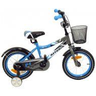 """Baby Mix kék bicikli (14"""") ajándék kosárral"""