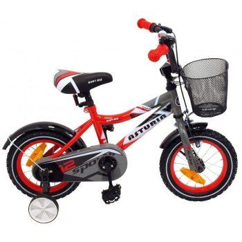 """Baby Mix piros bicikli (14"""") ajándék kosárral"""