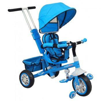 Baby Mix Odyssey kék tricikli kupolával (360°-ban forgatható ülés)