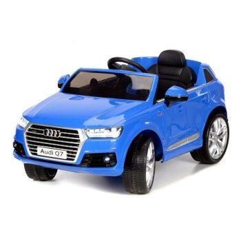 Audi Q7 kék elektromos autó távirányítóval