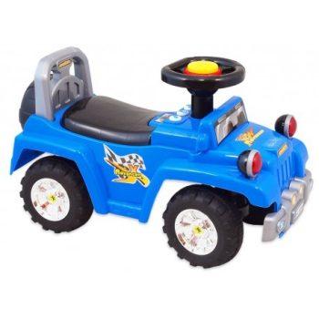 Baby Mix lábbal hajtható zenélő és világító terepjáró gyerekeknek kék színben