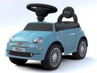 Baby Mix FIAT 500 lábbal hajtható autó kék színben