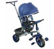 Baby Mix Tour Trike tricikli tolókarral és lábtartóval navy színben (360°-ban forgatható ülés)