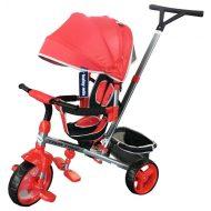 Baby Mix Tour Trike tricikli tolókarral és lábtartóval piros színben (360°-ban forgatható ülés)